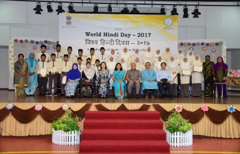 Celebration of World Hindi Day at Yayasan School on 15 March 2017