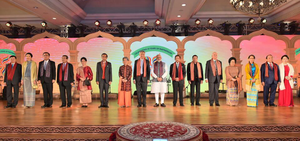 Shri Narendra Modi, Prime Minister of India, interacted with ASEAN HoS/HoGs and ASEAN Secretary General during a retreat meeting on 25 January 2018.