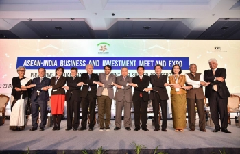 Minister of State General VK Singh participates and addresses the Inaugural session of the ASEAN-India Business and Investment Meet and Expo on 22 Jan 2018. Pehin Dato Lim Jock Seng, Minister of Foreign Affairs and Trade II of Brunei, also participated in the ASEAN-India Business and Investment Meet and Expo.