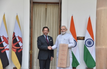 Shri Narendra Modi, Prime Minister of India, and the Sultan of Brunei held positive discussions in New Delhi on 25 January 2018.