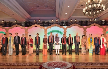 Shri Narendra Modi, Prime Minister of India, hosted ASEAN leaders and their spouses over a banquet and cultural programme on the occasion of ASEAN India commemorative summit on 25 January 2018