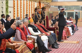 President Shri President Ram Nath Kovind, PM Narendra Modi and other dignitaries at the historic 69th Republic Day parade along with all our esteemed Chief guests - all 10 ASEAN Heads of State/Government on 26 January 2018.