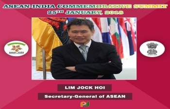The ASEAN Secretary General Lim Jock Hoi attended the Asean-India Commemorative Summit.