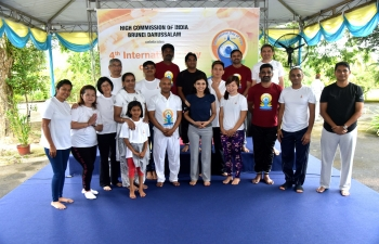 celebration of International Day of Yoga (IDY) 2018 in Brunei Darussalam.
