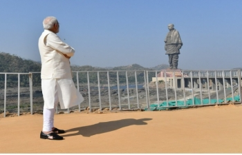 PM Modi inaugurates Statue of Unity, 31 October 2018