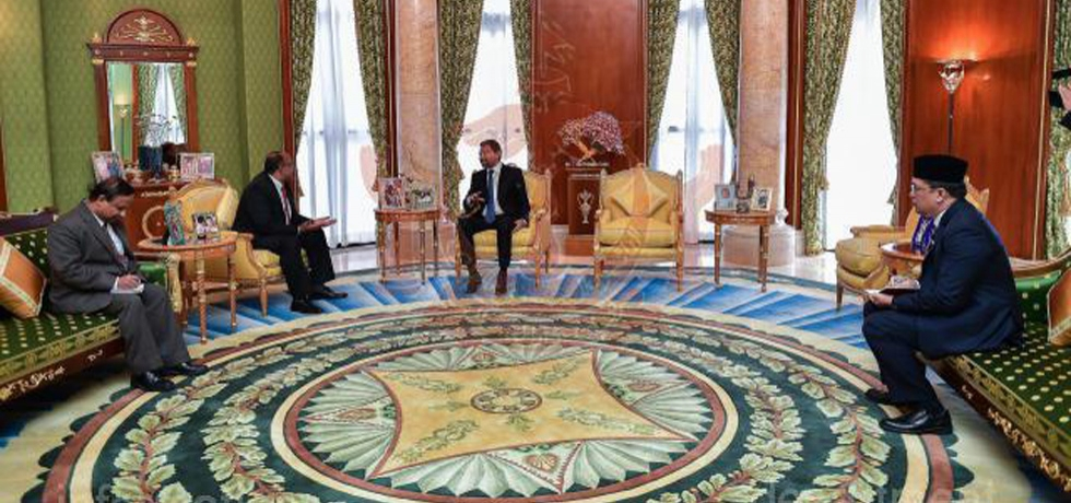High Commissioner HE Mr. Ajaneesh Kumar called on Crown Prince His Royal Highness Haji Al-Muhtadee Billah on Thursday, 15th January 2019