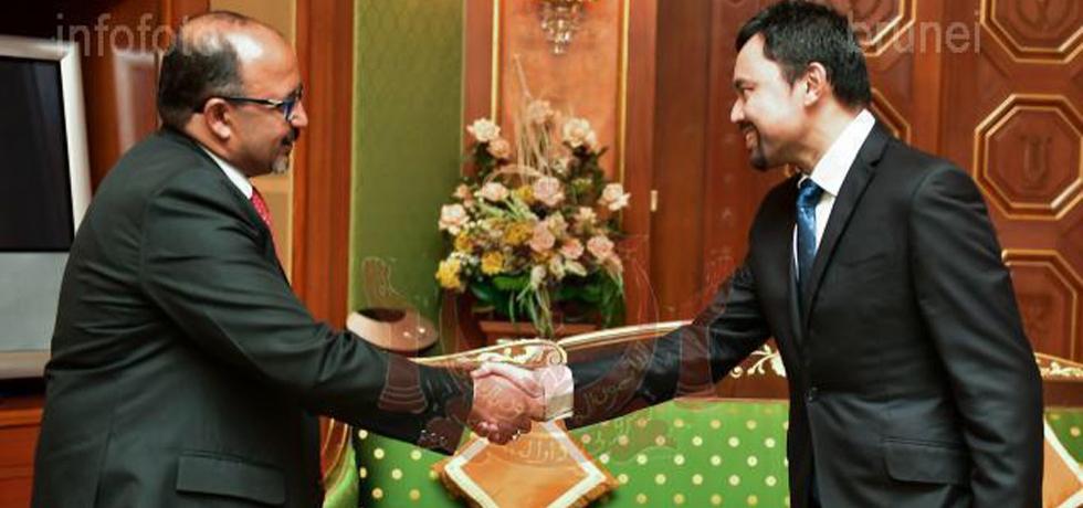 High Commissioner HE Mr. Ajaneesh Kumar called on Crown Prince His Royal Highness Haji Al-Muhtadee Billah on Thursday, 15th January 2019