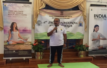 Celebration of 6th International Day of Yoga (IDY) 2020 in Brunei Darussalam