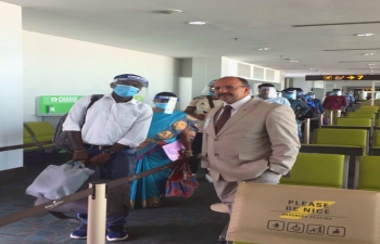 3rd repatriation of stranded Indian nationals from Brunei to Coimbatore via a Royal Brunei Chartered Flight on 18th September 2020