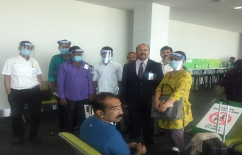 4th repatriation of stranded Indian nationals from Brunei to Coimbatore via a Royal Brunei Chartered Flight on 2nd October 2020