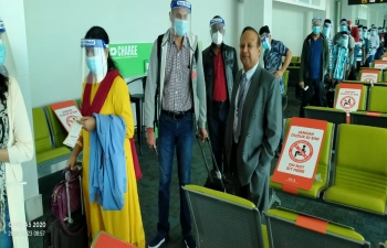 5th repatriation of stranded Indian nationals from Brunei to Coimbatore via a Royal Brunei Chartered Flight on 23rd October, 2020