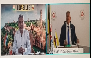 Bilateral Relations Review Meeting (BRRM) between India and Brunei held on virtual platform on 18.2.2021