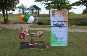 Celebrating India@75 – Azadi ka Amrit Mahotsav: Beach cleaning activity by High Commission of India in collaboration with the Telugu Association on 25 April 2021