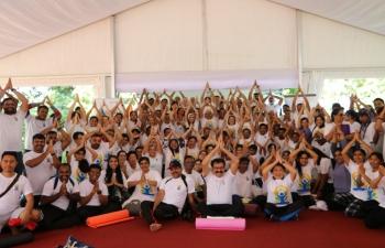Celebration of 7th International Day of Yoga (IDY) 2021 in Brunei Darussalam
